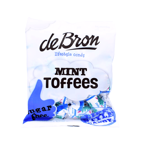 de Bron - Sugar Free Peppermint Toffees Sweets 100g - Sweet Victory Products