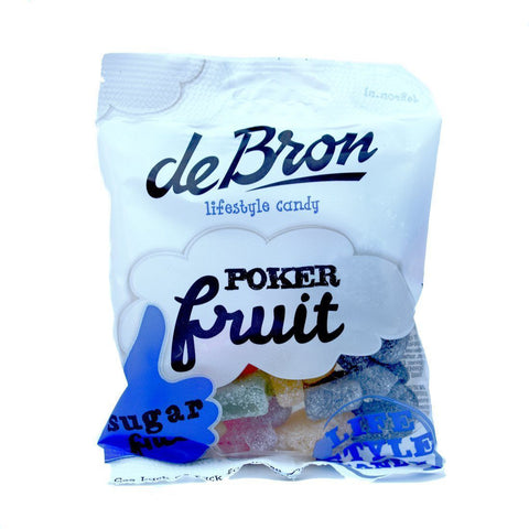 de Bron Sugar Free Poker Fruit Sweets 100g - Sweet Victory Products Ltd