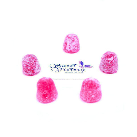 de Bron Sugar Free Raspberry Gum Drops Sweets 100g Weigh Out - Sweet Victory Products Ltd