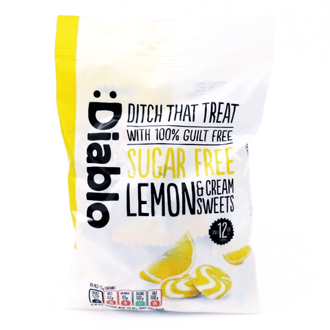 Diablo Sugar Free Lemon And Cream Sweets 75g - Sweet Victory Products Ltd
