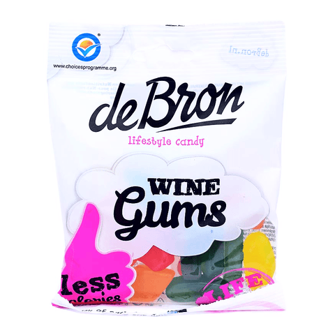 Prepacked de Bron - Sugar Free Wine Gums 100g - Sweet Victory Products Ltd