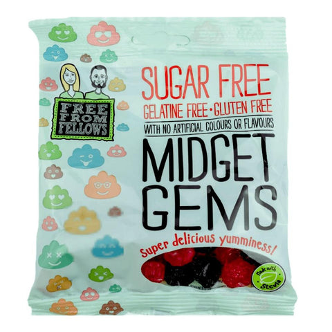 Sugar Free  Sweet Vegan Midget Gems - Free From Fellows - Sweet Victory Products