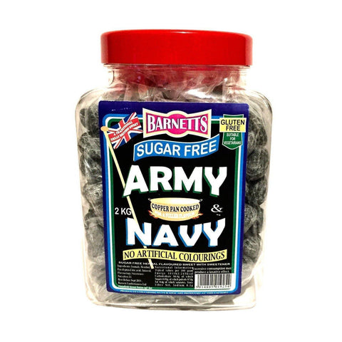 Sugar Free Sweets Army & Navy Throat & Chest Cough Lozenges 100g - Sweet Victory Products Ltd