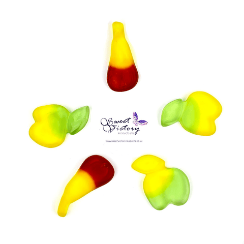 Sugar Free Sweets Jelly/Gummy Apples & Pears 100g - Sweet Victory Products Ltd