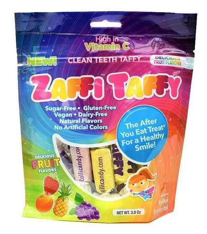 Sweets - Zaffi Taffy Sugar Free Fruit Chews With Xylitol 100g