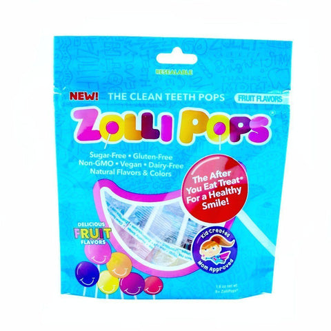 Sweets - Zollipops Sugar Free Tooth Kind Lollipops X8 Pack