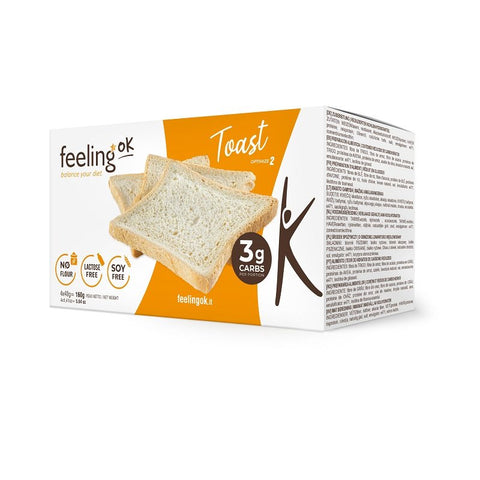Feeling ok Low Carb Toast - Plain Optimize 4x40g