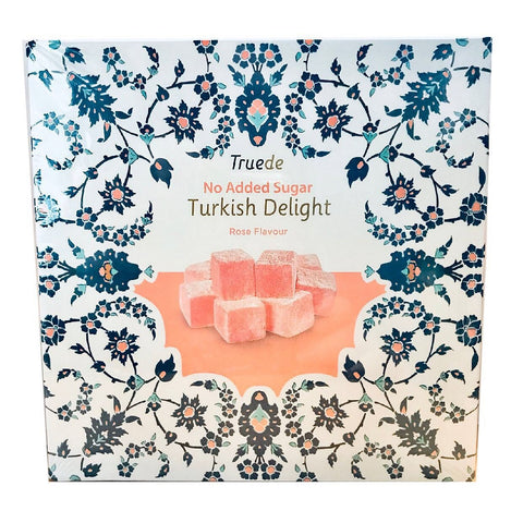 Truede No Added Sugar Rose Turkish Delight 110g - Sweet Victory Products
