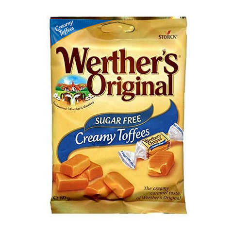 Werther's Original Sugar Free Creamy Toffees 80g - Sweet Victory Products Ltd