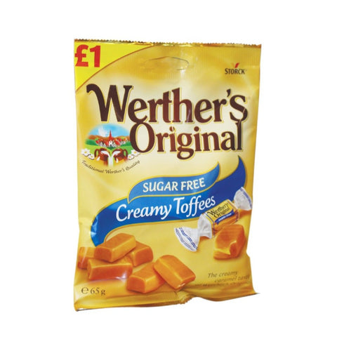 Werther's Original Sugar Free Creamy Toffees 65g