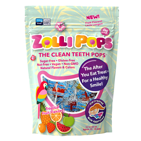 Zollipops Sugar Free Tropical Lollipops X25
