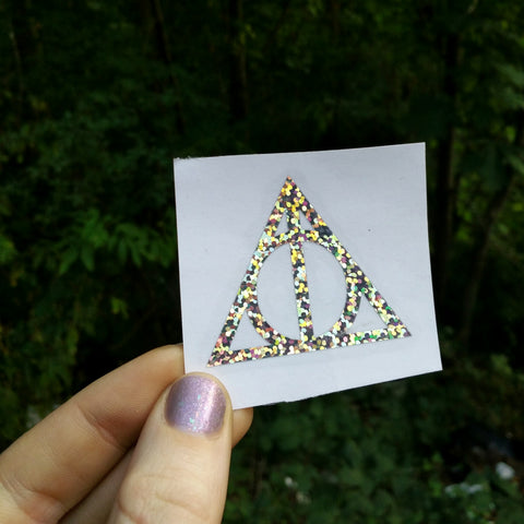 Deathly Hallows • Silver Holo Vinyl Decals