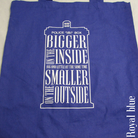 Police Box Totes • They're Bigger on the Inside!