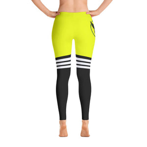 Women's All Day Comfort Full Length Leggings Yellow Pacific Supply Stripe