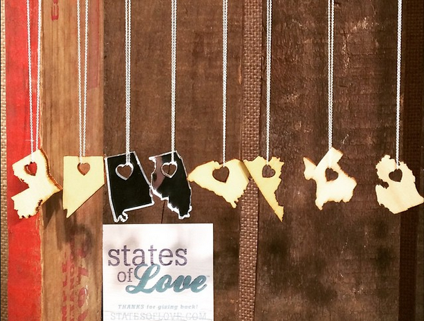 Laser Cut State Necklaces - #girlboss yoga