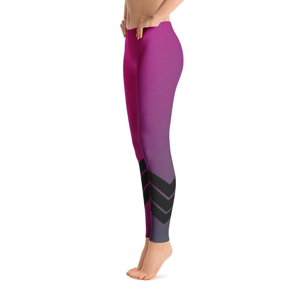 Women's All Day Comfort Pink Venture Pro Stripe Leggings