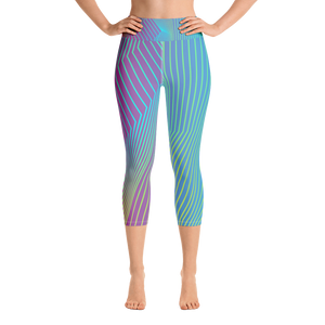 Women's Active Comfort Sport Navagio Capri Leggings