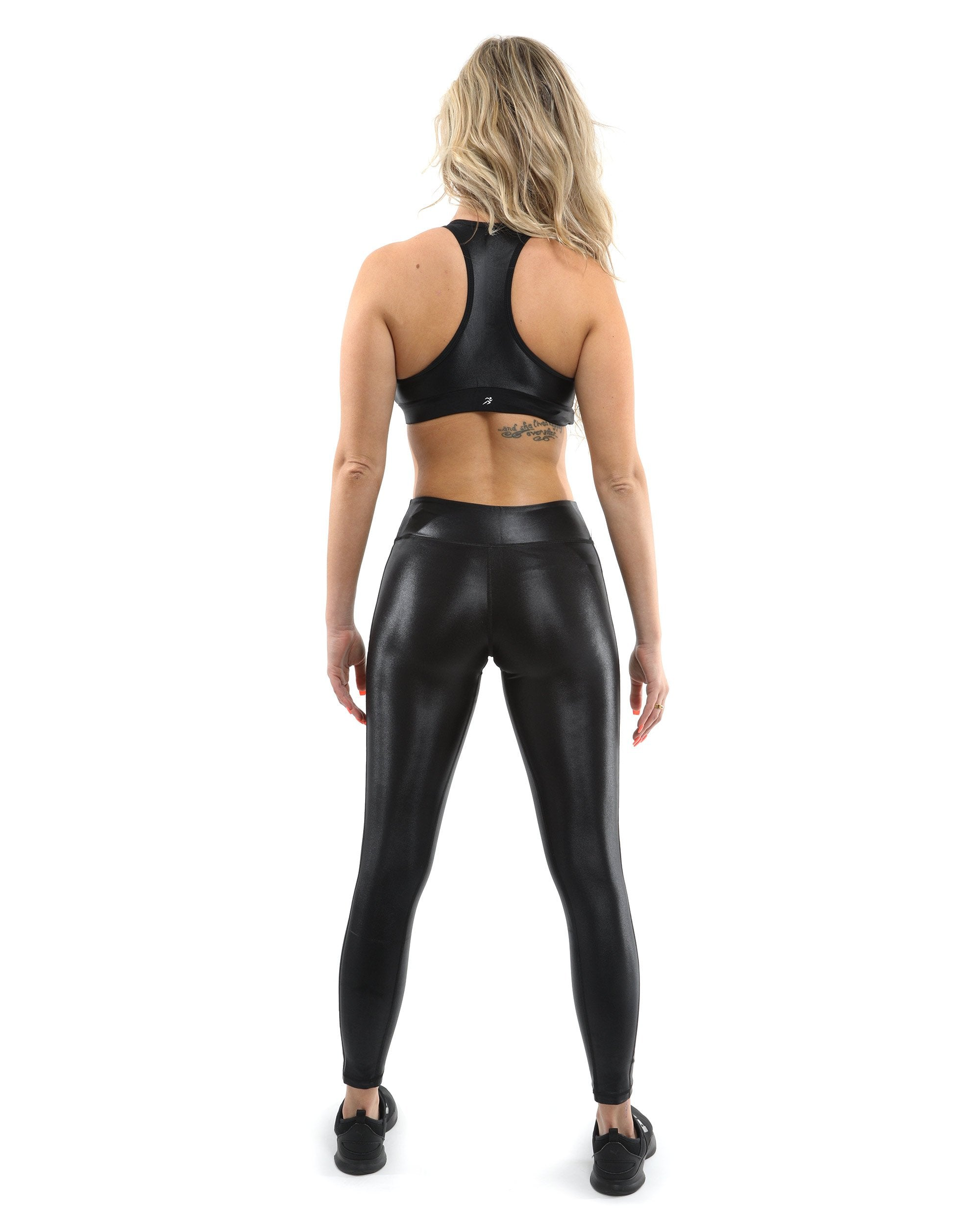 SALE! 50% OFF! Cortina Activewear Set - Leggings & Sports Bra - Black [MADE IN ITALY] - Size Small