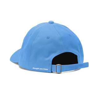 "thought you knew ""baby blue extendo"" dad hat"