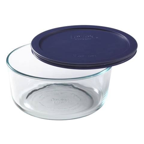 Pyrex Simply Storage Blue Lid 7 Cup Round-6017397