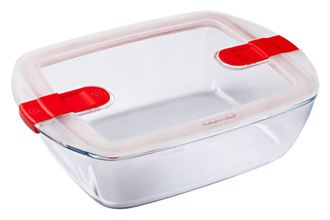 CLEARANCE (was $29.95)-Pyrex Cook & Heat Storage 2.5L Rectangle with vented Lid-1129634