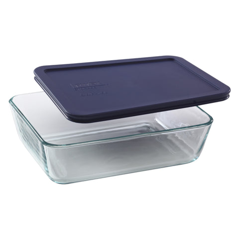 Pyrex Simply Storage Blue Lid 6 Cup Rectangle-6017396