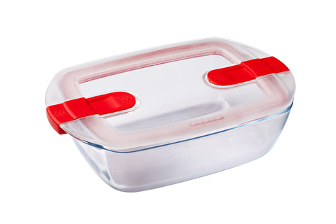CLEARANCE (was $21.95)-Pyrex Cook & Heat Storage 1.1L Rectangle with vented Lid-1129633
