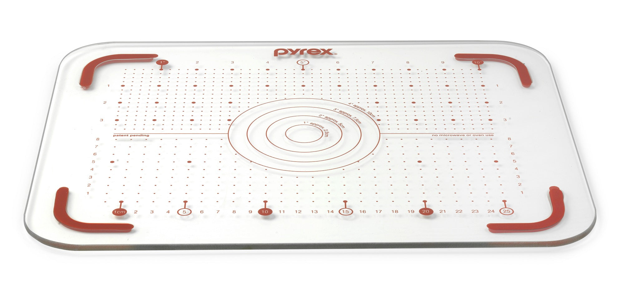 Pyrex T&G 28cm x 36cm Glass Cutting Board-1136077