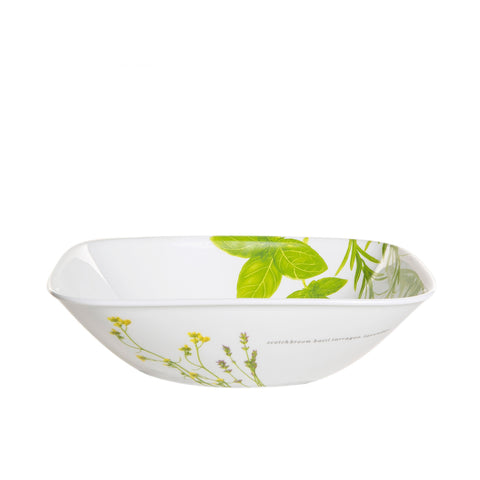 Corelle Deluxe Square European Herbs 680mL Soup Cereal Bowl-2323-EH-LP