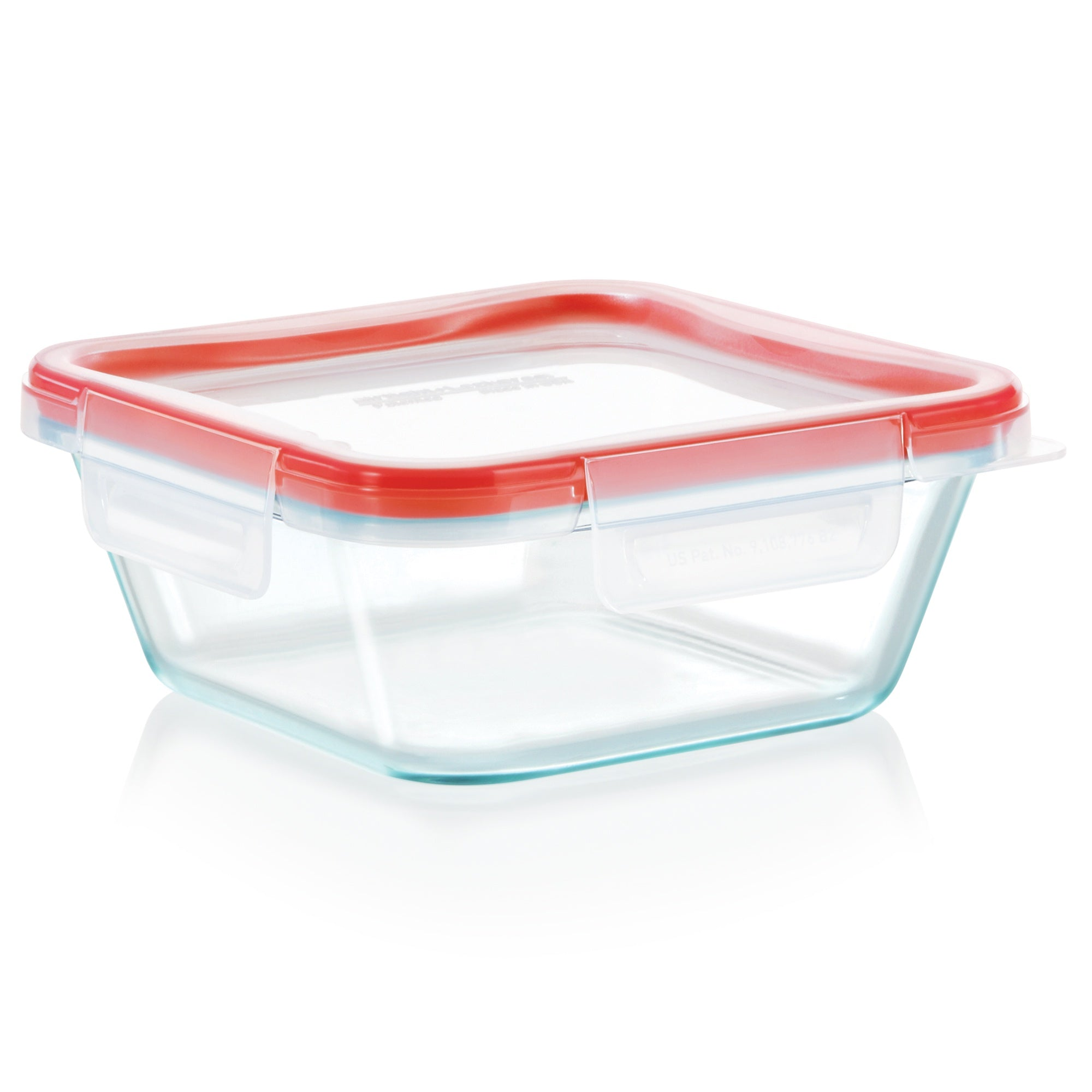Pyrex Storage Fresh Lock 4 Cup Square with 4 Latch Lid-1133098