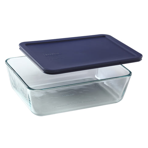 Pyrex Simply Storage Blue Lid 11 Cup Rectangle-6017400