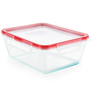 Pyrex Storage Fresh Lock 8 Cup Rectangle with 4 Latch Lid-1137214