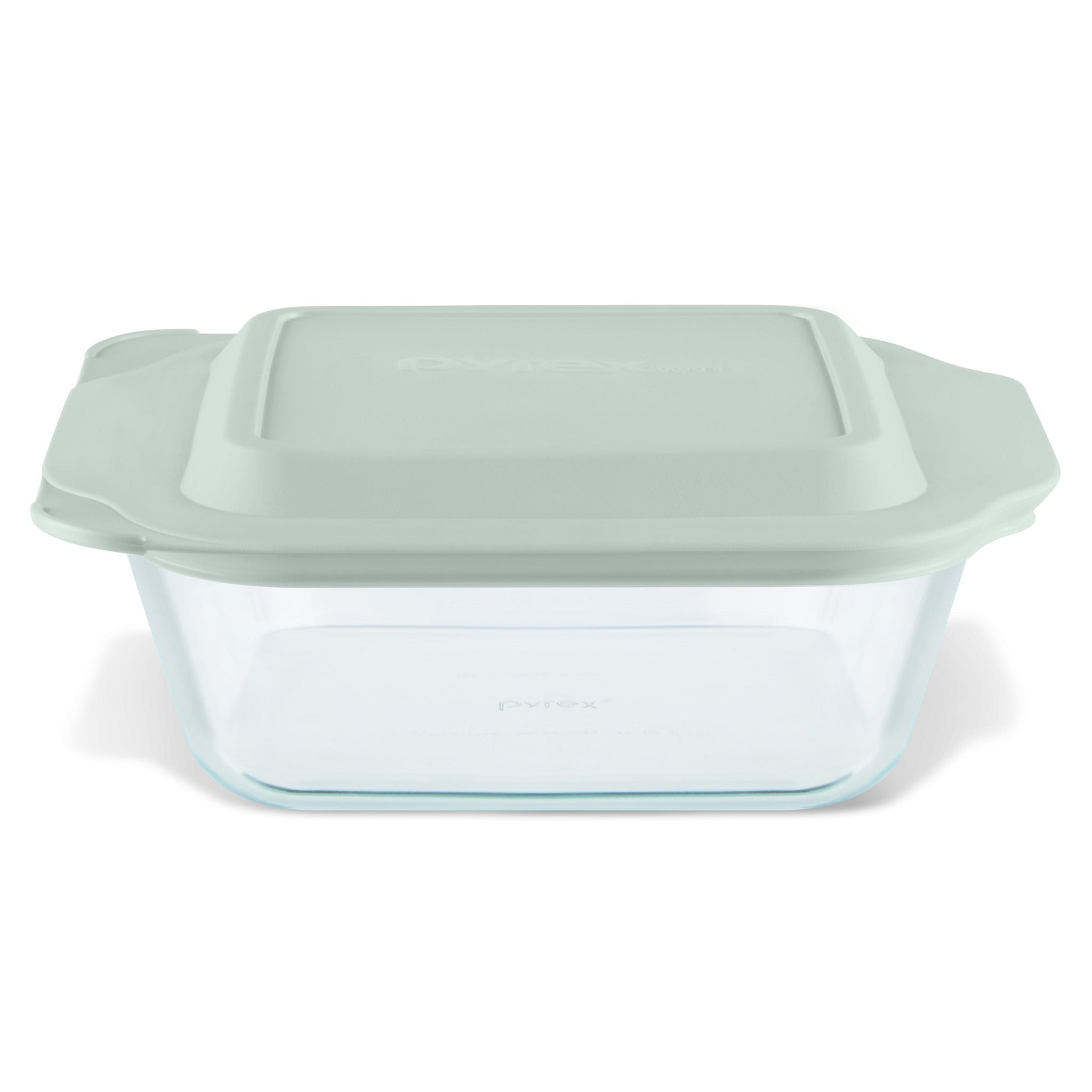 Pyrex Deep Dish 20.3cm Square Baker with Sage Lid-1134583