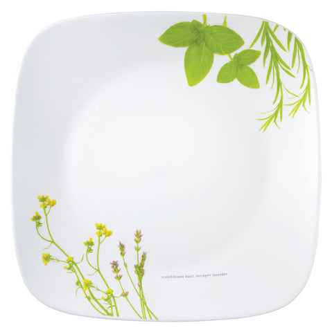 Corelle Deluxe Square European Herbs 22.9cm Luncheon Plate-2211-EH-LP