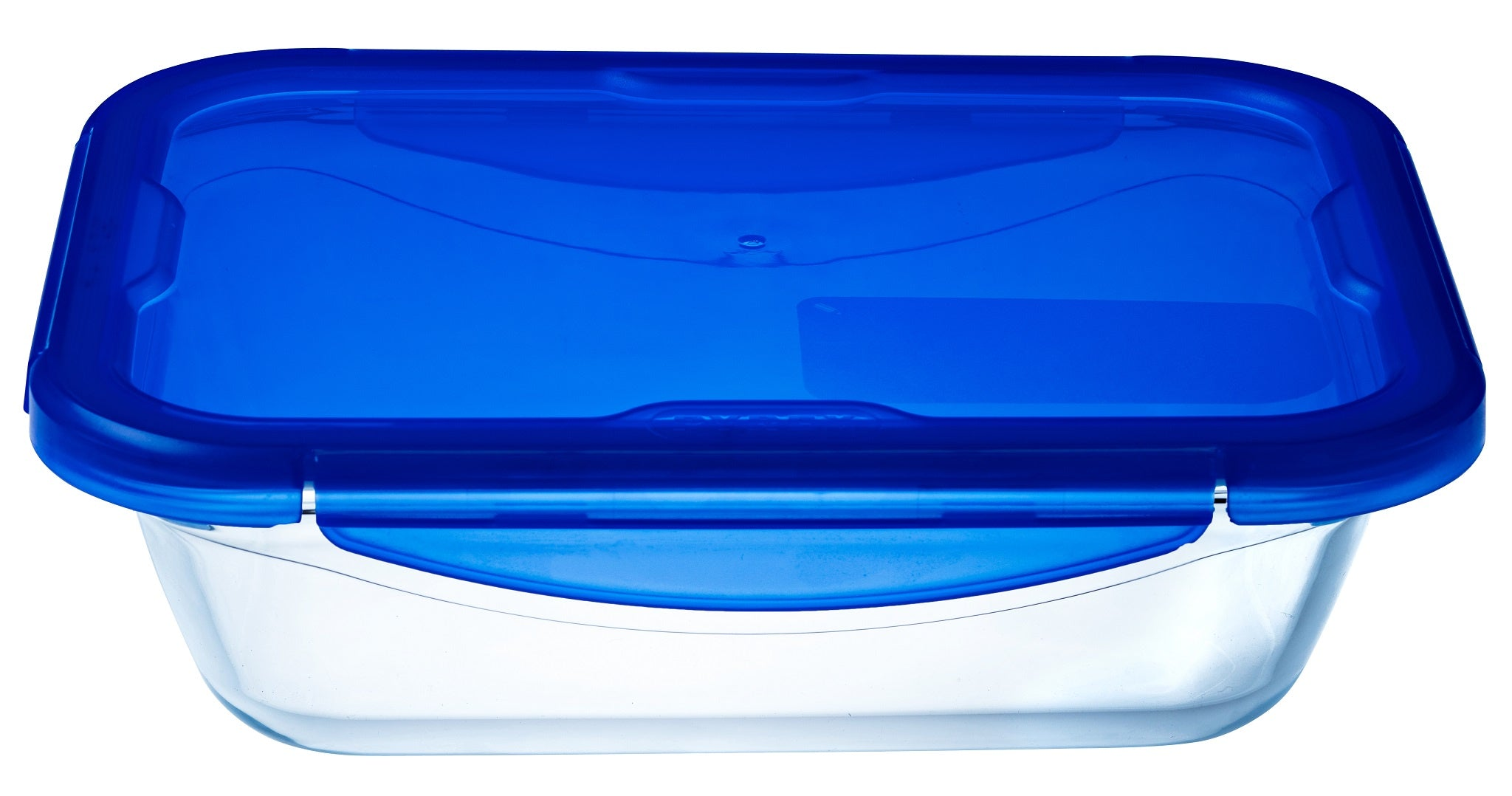 Pyrex Cook & Go Storage 3.3L Rectangle with Blue 4 Lock Lid-1129042
