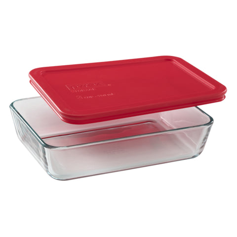 Pyrex Simply Storage Red Lid 3 Cup Rectangle-1075430