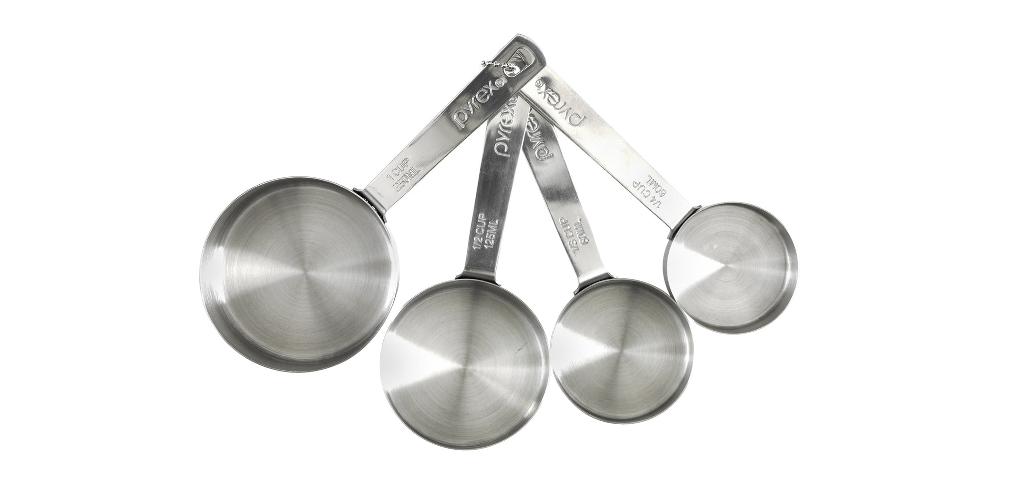 Pyrex Platinum 4 Piece Stainless Steel Measuring Cup-1134697