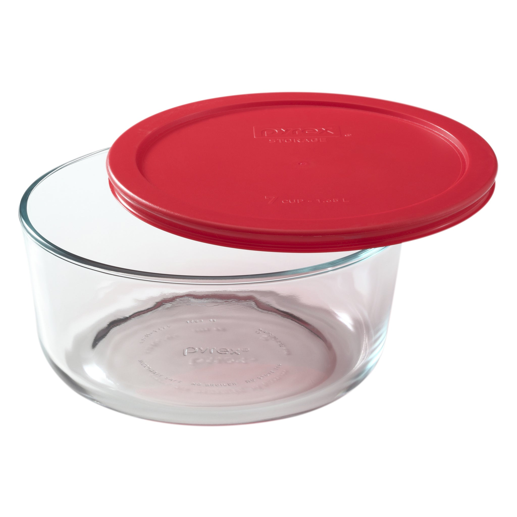 Pyrex Simply Storage Red Lid 7 Cup Round-1075429