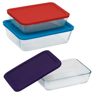 Pyrex SS (valued @ $43.00) 6 Piece Coloured Set-1124846