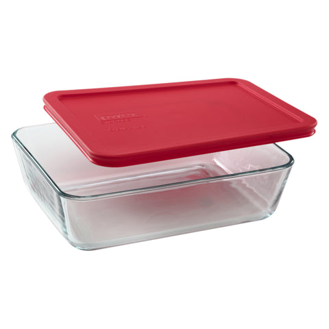 Pyrex Simply Storage Red Lid 6 Cup Rectangle-1069618