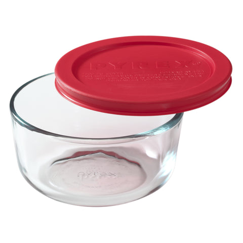 Pyrex Simply Storage Red Lid 2 Cup Round-1069619