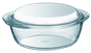 Pyrex Essentials 3L Round Glass Covered Casserole