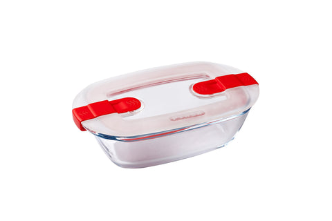 CLEARANCE (was $16.95)-Pyrex Cook & Heat Storage 400mL Rectangle with vented Lid-1129632