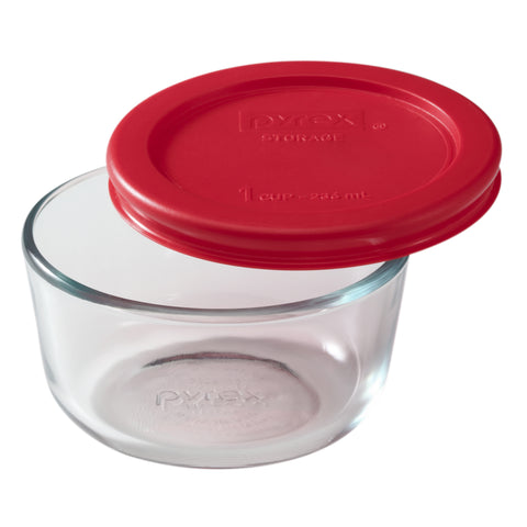 Pyrex Simply Storage Red Lid 1 Cup Round-1070791