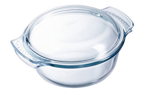 Pyrex Classic Round Glass Covered Casserole 4.9L-1030225