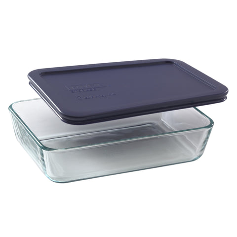 Pyrex Simply Storage Blue Lid 3 Cup Rectangle-6017471