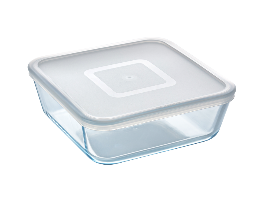 Pyrex Cook & Freeze Storage 2L Square with Clear Lid-1137643