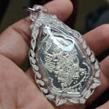 AK-47 Hanuman Riding Singha Silver Amulet - Limited to 299
