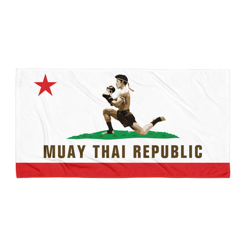 "Muay Thai Republic ""KILLA CALI"" Beach Towel"