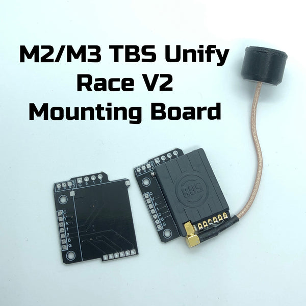 TBS Unify Race V2 M2 &M3 Mounting Board - Tiny's LEDs